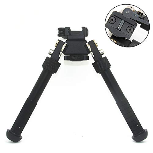 JINSE Rifle Bipod QD Swivel Adjustable Height Bipod For Picatinny Rail 6.5-9 Inches