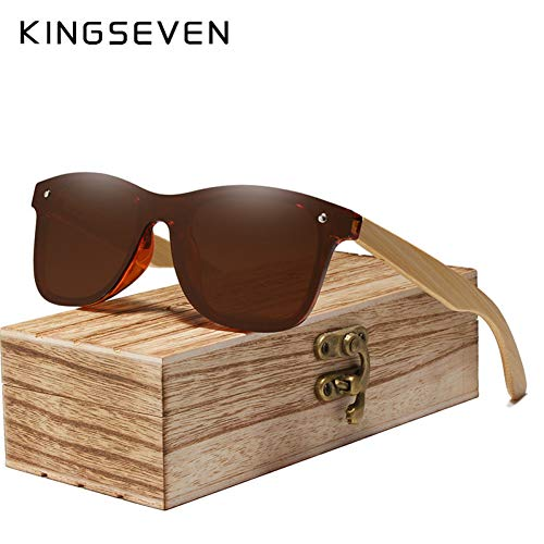 BUYAOAQ Bambus-Sonnenbrille Aus Holz Polarisierte Sonnenbrille Aus Holz Uv400-Sonnenbrille Aus Holz Sonnenbrille Aus Holz (Uv400 Sonnenbrillen)