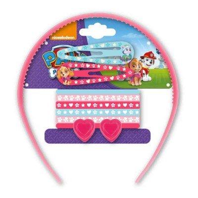 Paw Patrol Skye und Everest Set von 11 Haar Set Dress Up Zubehör für Mädchen umfasst Aliceband, Click Clacks, Mini Bulldog Haarspangen Und Pony Gummibänder