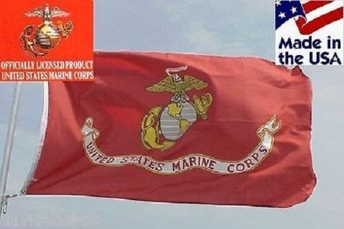 3X5 Ft U.S. Marines Nylon Flag 3'X5' Banner Marine Usmc ( Made In Usa ) by Decorative Flag