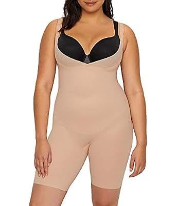Miraclesuit Shapewear Womens Plus Size Extra Firm Control Torsette Singlette w/Adjustable Straps - Beige - 1X Plus