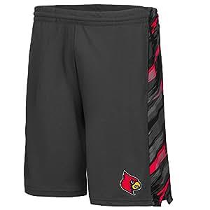Mens NCAA Louisville Cardinals Basketball Shorts (Charcoal) - 2XL