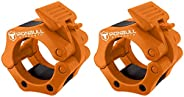"""Olympic Barbell Clamps (Pair) – Locking 2"""" Olympic Size Weight Collars - Quick Release Collar Clips – Bar"""