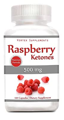 Raspberry Ketones, 500 Mg Per Capsule, 120 Capsules, 100% Pure All Natural Lean Weight Loss Appetite Suppressant Supplement by Vertex