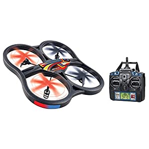World Tech Toys 4.5 Channel Gyro 2.4GHz Panther Drone UFO RC Quadcopter