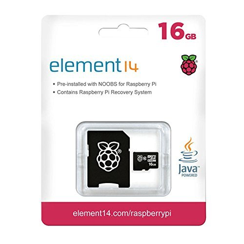 Raspberry Pi 16GB Preloaded (NOOBS) SD Card, Pre-installed, Class 10 - Raspberry Pi Recovery System (1 Pack) 'Packaging May Vary' ()