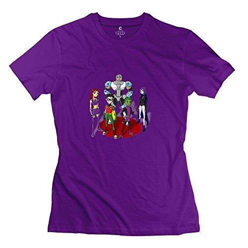 StaBe Woman's Teen Titans T-Shirt Slim Fit Retro XS Purple]()