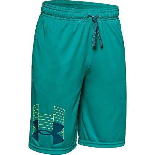 Price comparison product image Under Armour boys Prototype Logo Shorts,  Teal Rush (454) / Teal Vibe,  Youth Large