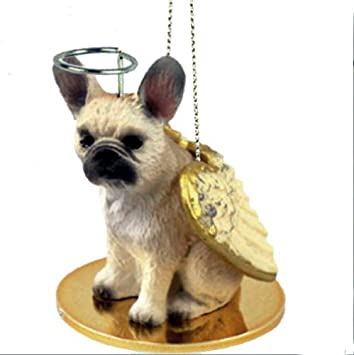 Amazon.com: FRENCH BULLDOG FAWN Angel Dog Christmas Ornament ...