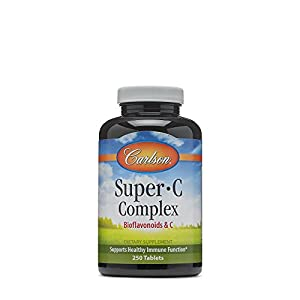Carlson Labs Super C Complex, Bioflavonoids and C, 250 Tablets
