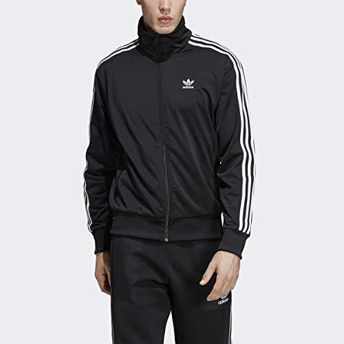 adidas Originals Men's Firebird Track Top, Black, XL