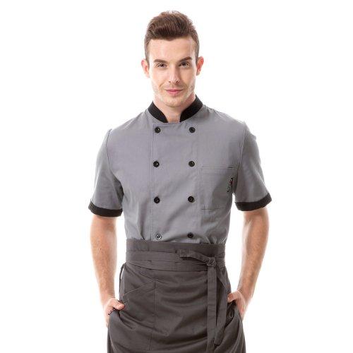 chef coat men grey - 4