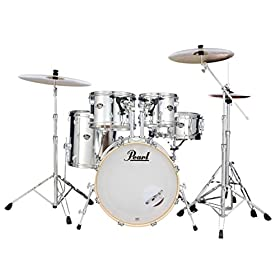 Pearl Export 5-pc. Drum Set w/830-Series Hardware Pack (cymbals not included), MIRROR CHROME (EXX705N/C49) 9