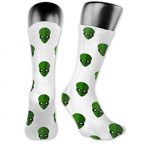 Green Aliens Socks (a Pair), Softball, Baseball, Lacrosse, Hockey, Volleyball, Rugby Socks