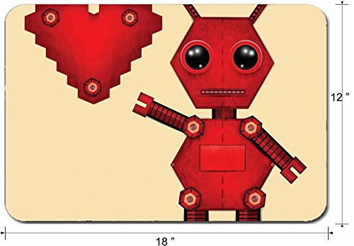 - Liili Large Mouse Pad XL Extended Non-Slip Rubber Extra Large Gaming Mousepad, 3mm thick Desk Mat 18x12 Inch Illustration of red valentine robot with heart Clip art Illustration 27943981
