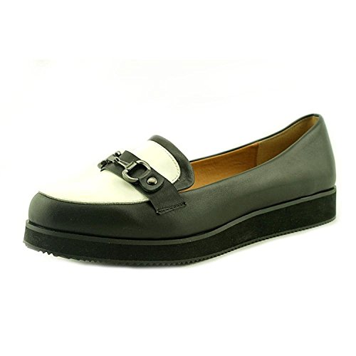 Shellys London Frauen Krucky Leder Oxfords Black and White