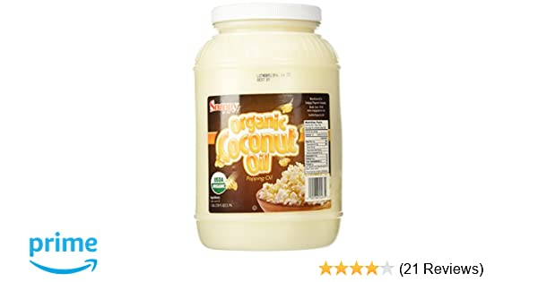 Amazon.com : Snappy Popcorn Organic Coconut Oil - 1 Gallon : Grocery & Gourmet Food