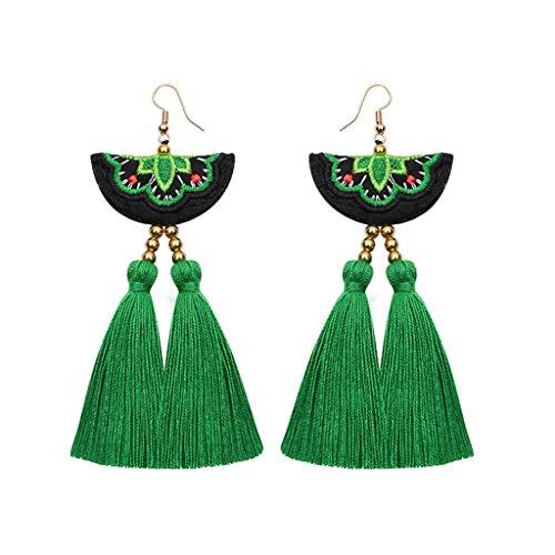 Elogoog Handcraft Gorgeous Long Tassel Drop Dangle Stud Earrings For Wedding Party Dance Jewelry (Hot ()