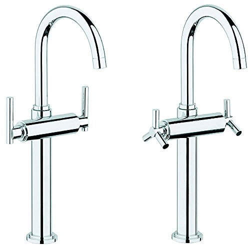 Vessel Single Atrio Hole - Grohe 21 046 000   Atrio Single Hole 2-Handle High-Arc Bathroom Vessel Faucet in Chrome