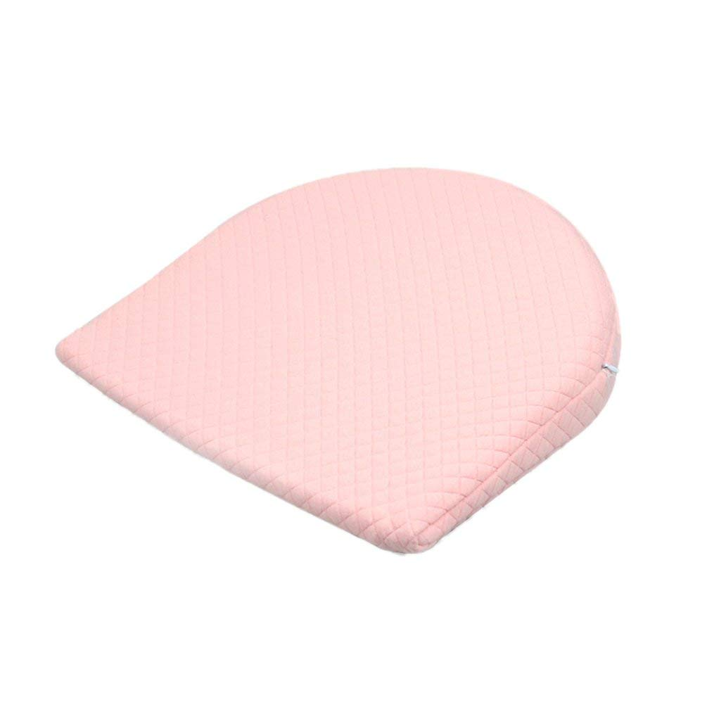 Wenwenzui Anti-Spit Milk Baby Pillow Triangle Slope Baby Pillow Memory Cotton Pillow Pink