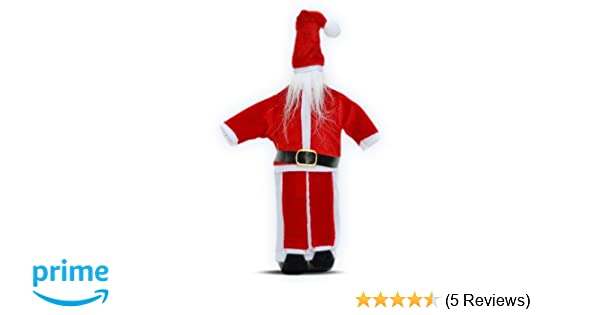 Amazon.com  Fun Wine Bottle Cover by Wine Wear  Santa  – Wine bottle  dress-up perfect for Christmas Holiday wine gifts and decoration  Kitchen    Dining 23c526ae74