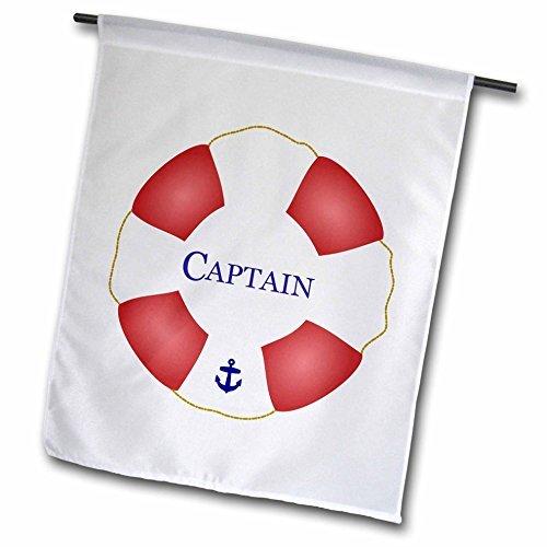 Unique Captain Lifesaver Ship Life Preserver Nautical Boat Ocean Sailing Yacht Sailor Home Yard Garden Flag Indoor Outdoor Decor Double Sides Polyester Flag 12 x 18 ()