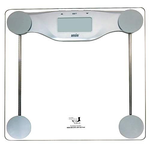 ANSIO Electronic Digital Display Scale, Weighing Bathroom Scales, Body Weight Scale...