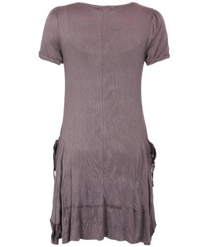 3303 Tunic Dress With Necklace (Mocha,14)