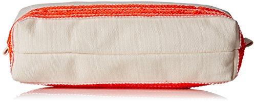 Vanessa Bruno Damen Einkaufstasche, Blanc (Blanc/Orange Fluo), 6x26x10 cm
