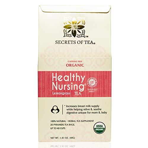 Lactation Tea- Healthy Nursing Lactation Tea- USDA Organic- 20 Sachets (Lemon Grass)