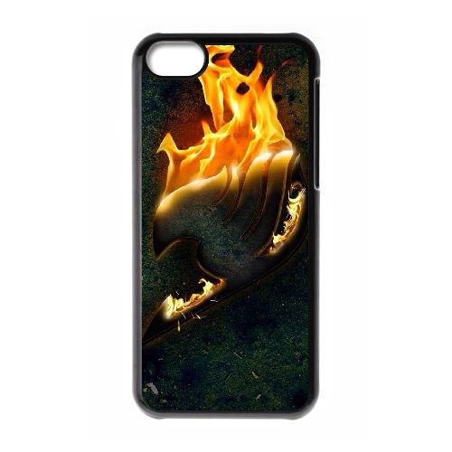 Fairy Tail 022 coque iPhone 5C Housse téléphone Noir de couverture de cas coque EOKXLLNCD14459