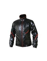 Fuerza Womens Ultralightweight Water Resistant Windbreaker Rain Golf Jacket  Black