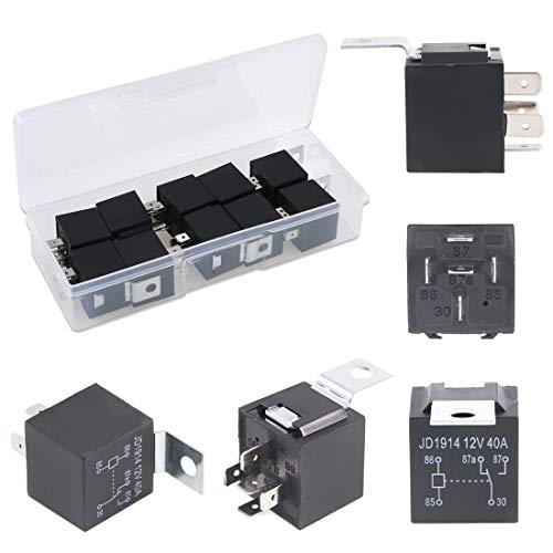 - Glarks 10 Pack 12V 30/40 Amp 5-Pin SPDT Electrical Relays Switch for Automotive Truck Boat Marine