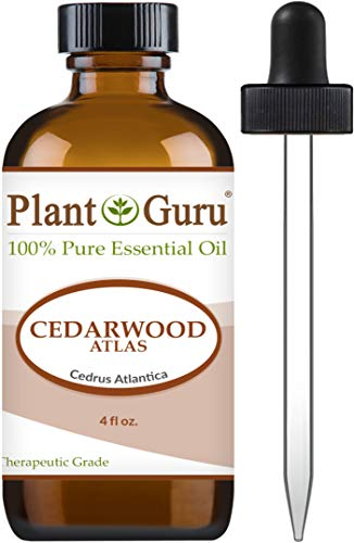 Cedarwood (Atlas) Essential Oil 4 oz 100% Pure Undiluted Therapeutic Grade for Skin, Body and Hair Growth. Great for Aromatherapy Diffuser and DIY Soap Making