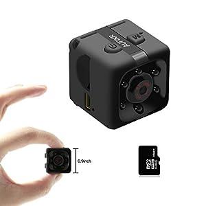 Aufikr 16GB Mini Camera Sports HD DV Camera 1080P Portable Tiny Video Camera with IR Night Vision & Motion Detection, Small Surveillance Camera for Home Office - Black