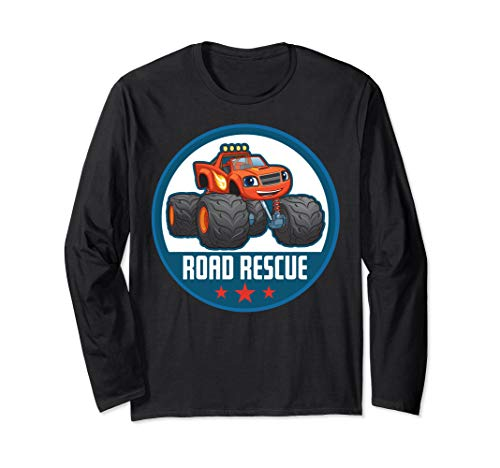 Blaze And The Monster Machines Road Rescue Circle Poster Long Sleeve T-Shirt
