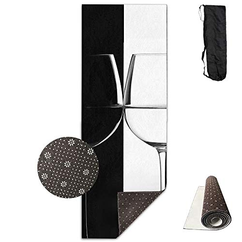 Black and White Goblet Minimalism ECO Aqua Power Kinematic Iyengar Kundini Hot Pilates Gymnastics Hatha Yoga Mat Exercise Mat