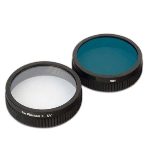 Simply Silver - New Digipower Re-Fuel UV/Neutral-Density Lens Filters DJI Phantom 3 Drone Camera