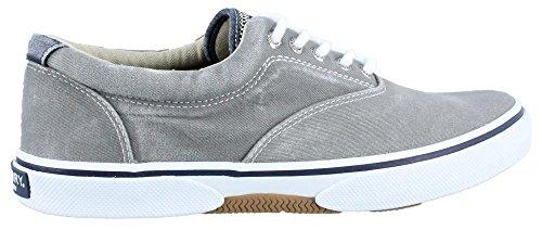 Men's Sperry Lace Shoe Halyard Grey up 4AHSad