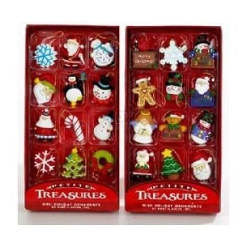 kurt adler petite treasures 12 piece miniature ornaments set 2 pack