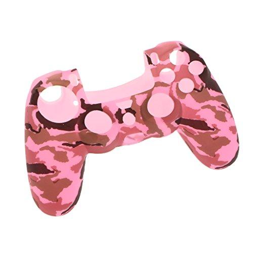 Sharplace シリコンケース スキン カバー ケース プレイステーション4 PS4コントローラ用 高性能  薄型 全9色 - ピンク