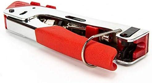 Squeeze-Zangen Multifunktions-3-in-1-Koaxialkabel Einstellbar Einfach zu verstauen,Einfach zu bedienen