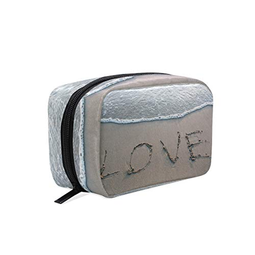 Makeup Bag Cosmetic Pouch Clutch Beach Coast LOVE