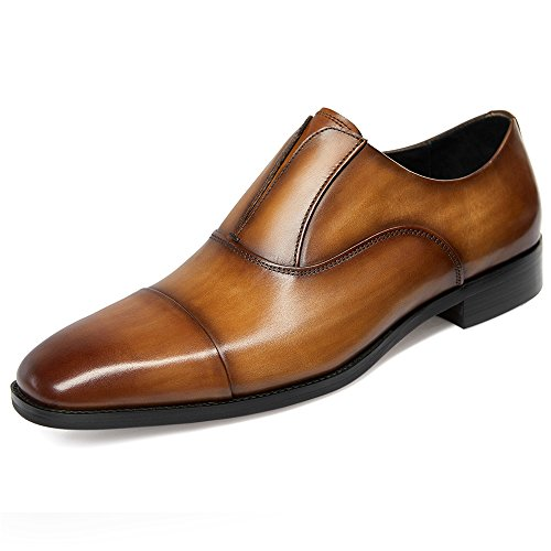 GIFENNSE Classic Modern Leather Oxford Shoes Mens Dress Shoes