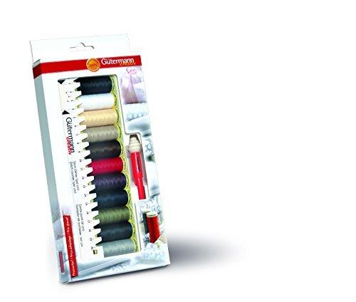 Gutermann 734578 - Kit inicial con hilo de coser , medidor manual y desgarrador de costuras