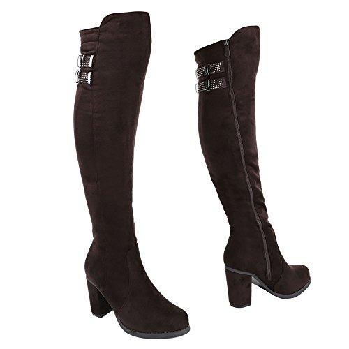 Ital-Design - botas clásicas Mujer marrón
