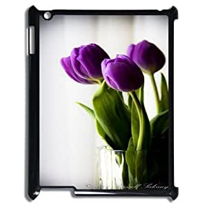 K-G-X Phone case For Ipad 2/3/4 Case Case-Pattern-3 Beautiful Holland Tulip Flower Protective Back Case