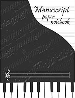 Manuscript Paper Notebook Blank Sheet Music Book Music