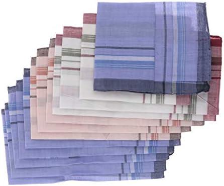 12枚セット ポケットハンカチ ハンカチ 格子縞模様 こども 男の子 吸湿性 発散性