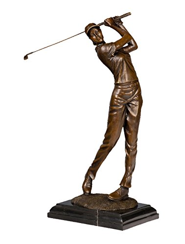 Toperkin Statue Extra Large Female Golfer Golf Sport Trophy Award Bronze Sculpture Statue Figure TPY-790